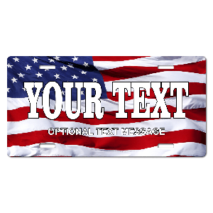 United States Flag Plate for Bikes, Bicycles, ATVs, Cart, Walkers, Motorcycles, Wagons and Vehicles