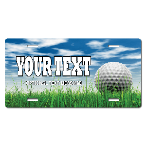 Golf Background Plate for Bikes, Bicycles, ATVs, Cart, Walkers, Motorcycles, Wagons and Vehicles