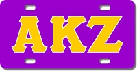 Greek Letters Monogram License Plate for Bikes, Bicycles, ATVs, Cart, Walkers, Motorcycles, Wagons and Vehicles