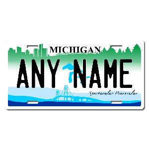Michigan License Plate for Bikes, Bicycles, ATVs, Cart, Walkers, Motorcycles, Wagons and Vehicles Version 2