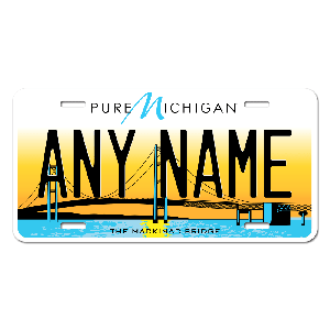 Michigan License Plate for Bikes, Bicycles, ATVs, Cart, Walkers, Motorcycles, Wagons and Vehicles Version 5