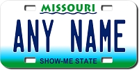 Missouri License Plate for Bikes, Bicycles, ATVs, Cart, Walkers, Motorcycles, Wagons and Vehicles