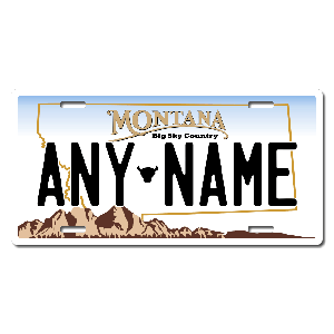 Montana License Plate for Bikes, Bicycles, ATVs, Cart, Walkers, Motorcycles, Wagons and Vehicles Version 1