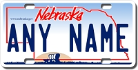 Nebraska License Plate for Bikes, Bicycles, ATVs, Cart, Walkers, Motorcycles, Wagons and Vehicles