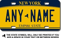 New York License Plate for Bikes, Bicycles, ATVs, Cart, Walkers, Motorcycles, Wagons and Vehicles Version 2