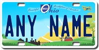 Ohio License Plate for Bikes, Bicycles, ATVs, Cart, Walkers, Motorcycles, Wagons and Vehicles Version 2
