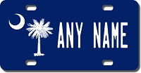 South Carolina Flag License Plate for Bikes, Bicycles, ATVs, Cart, Walkers, Motorcycles, Wagons and Vehicles