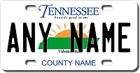 Tennessee License Plate for Bikes, Bicycles, ATVs, Cart, Walkers, Motorcycles, Wagons and Vehicles
