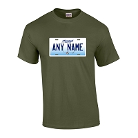 Personalized Missouri License Plate T-shirt Adult and Youth Sizes Version 2