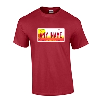 Personalized New Mexico License Plate T-shirt Adult and Youth Sizes Version 2