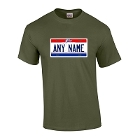 Personalized Ohio License Plate T-shirt Adult and Youth Sizes Version 1