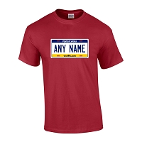 Personalized Pennsylvania License Plate T-shirt Adult and Youth Sizes Version 2