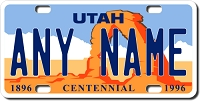 Utah License Plate for Bikes, Bicycles, ATVs, Cart, Walkers, Motorcycles, Wagons and Vehicles