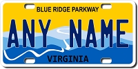 Virginia License Plate for Bikes, Bicycles, ATVs, Cart, Walkers, Motorcycles, Wagons and Vehicles version 4