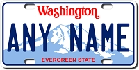 Washington License Plate for Bikes, Bicycles, ATVs, Cart, Walkers, Motorcycles, Wagons and Vehicles