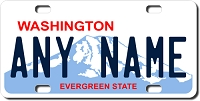 Washington License Plate for Bikes, Bicycles, ATVs, Cart, Walkers, Motorcycles, Wagons and Vehicles Ver 2