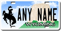 Wyoming License Plate for Bikes, Bicycles, ATVs, Cart, Walkers, Motorcycles, Wagons and Vehicles