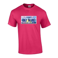 Personalized Mississippi License Plate T-shirt Adult and Youth Sizes Version 1