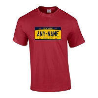 Personalized New York License Plate T-shirt Adult and Youth Sizes Version 2