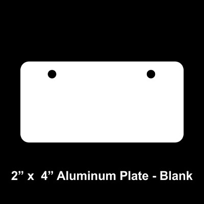 "Blank 2"" x 4"" Aluminum License Plate"