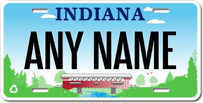 Indiana License Plate for Bikes, Bicycles, ATVs, Cart, Walkers, Motorcycles, Wagons and Vehicles Ver 3