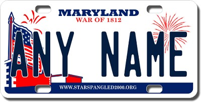 Maryland License Plate for Bikes, Bicycles, ATVs, Cart, Walkers, Motorcycles, Wagons and Vehicles Version 2