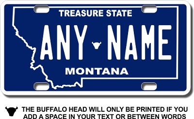 Montana License Plate for Bikes, Bicycles, ATVs, Cart, Walkers, Motorcycles, Wagons and Vehicles Version 2