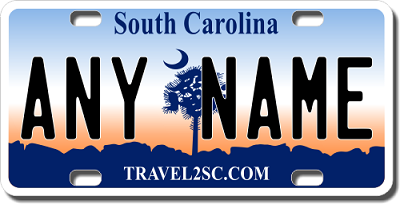 South Carolina License Plate for Bikes, Bicycles, ATVs, Cart, Walkers, Motorcycles, Wagons and Vehicles