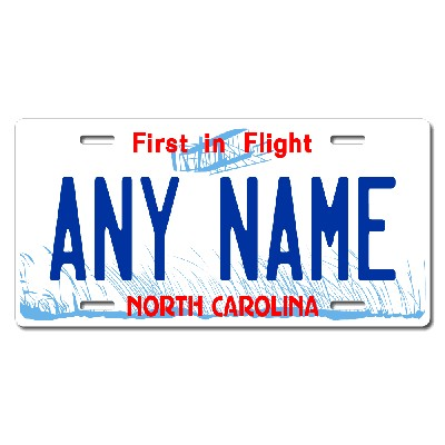 North Carolina License Plate for Bikes, Bicycles, ATVs, Cart, Walkers, Motorcycles, Wagons and Vehicles Version 1