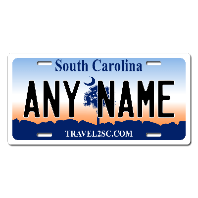 South Carolina License Plate for Bikes, Bicycles, ATVs, Cart, Walkers, Motorcycles, Wagons and Vehicles Version 1