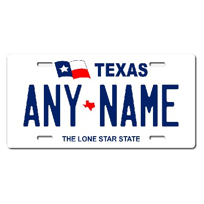 Texas License Plate for Bikes, Bicycles, ATVs, Cart, Walkers, Motorcycles, Wagons and Vehicles Version 1