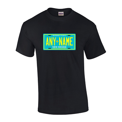 Personalized New Mexico License Plate T-shirt Adult and Youth Sizes Version 3